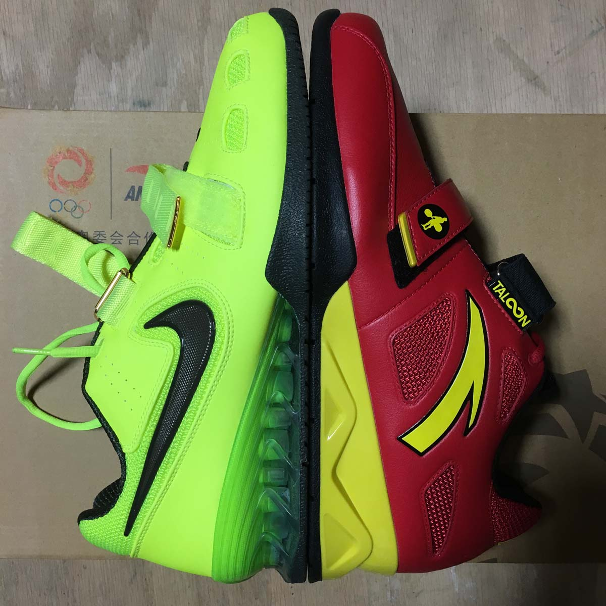 Anta RedYellow Chinese Weightlifting Shoe (Size 6 US)